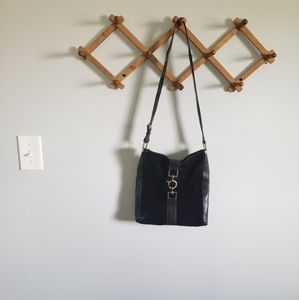 GUCCI Black Suede Leather Handbag